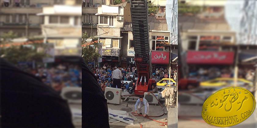 عکس حادثه اتش سوزی تهران