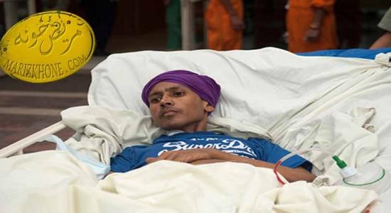 خروج یک تومور 55کیلویی از پای یک جوان 26ساله+تصاویر-خروج تومور عظیمالجثه از پای جوان هندی-غده در پای جوان هندی-تومور