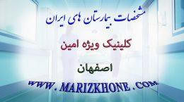 مشخصات كلينيك ويژه امین اصفهان