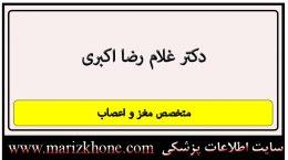 آدرس و تلفن دکتر غلام رضا اکبری
