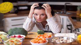 مضرات استرس بر رژیم غذایی