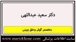 آدرس و تلفن دکتر سعید عبداللهی