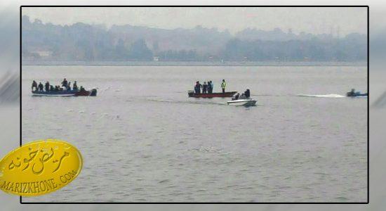 سقوط هلی کوپتر در دریاچه شهدای خلیج فارس تهران